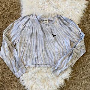 🤘🏼 Victoria secret PINK tie dye cropped tshirt